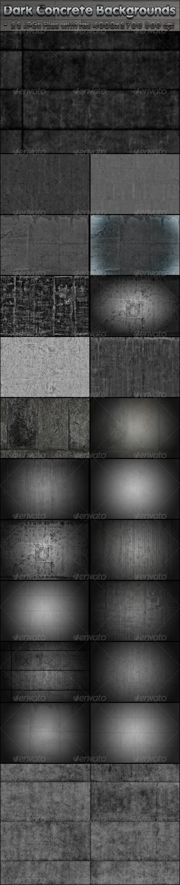 Dark Concrete Backgrounds - Miscellaneous Backgrounds