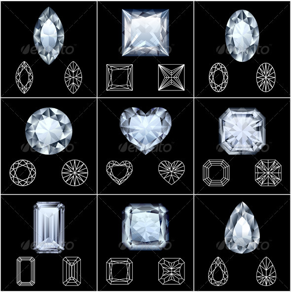 Diamonds set - Man-made objects Objects