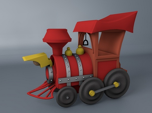 3DOcean Cartoon Train 3D Model 3225611