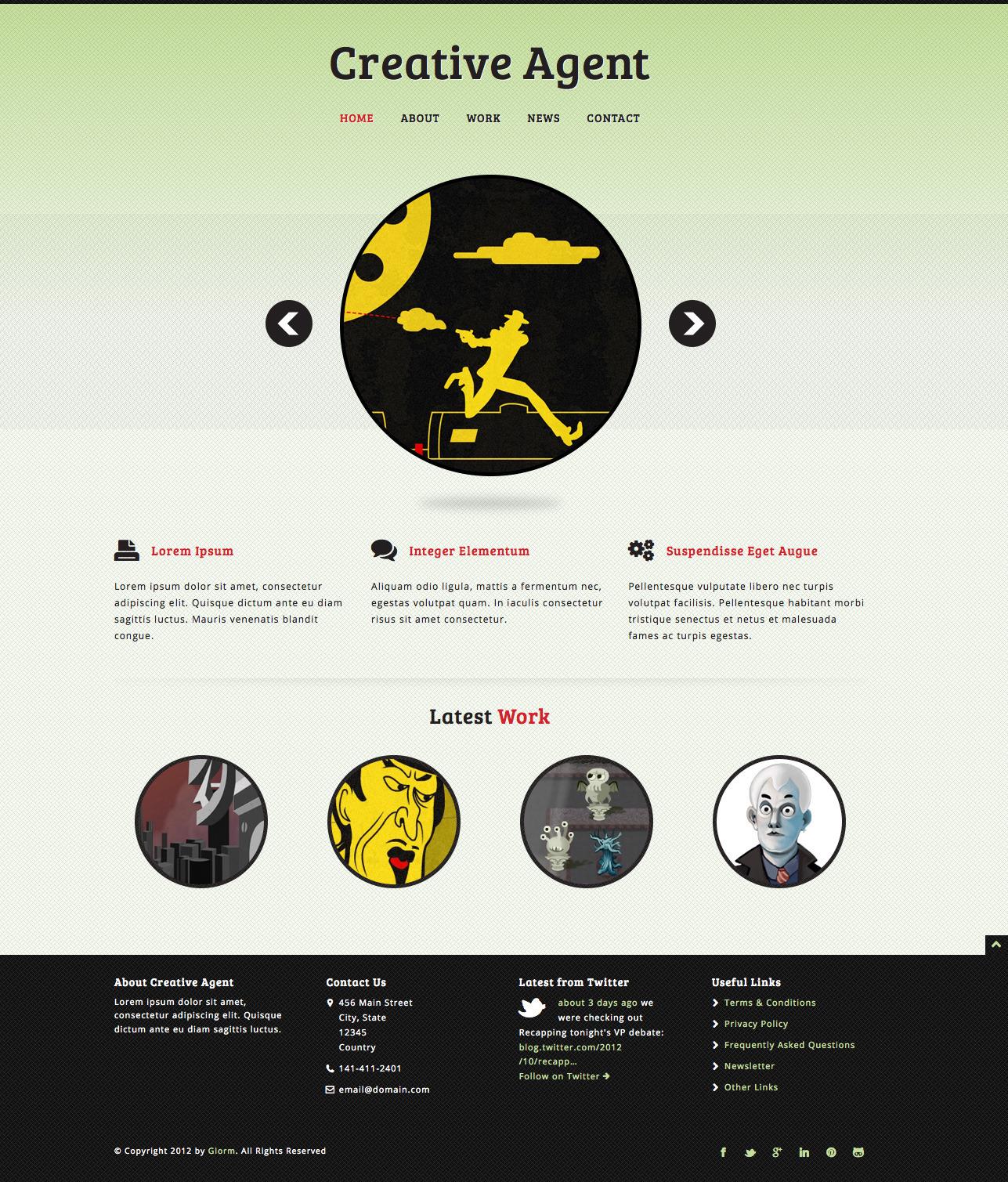 Creative Agent - Responsive Studio Portfolio
