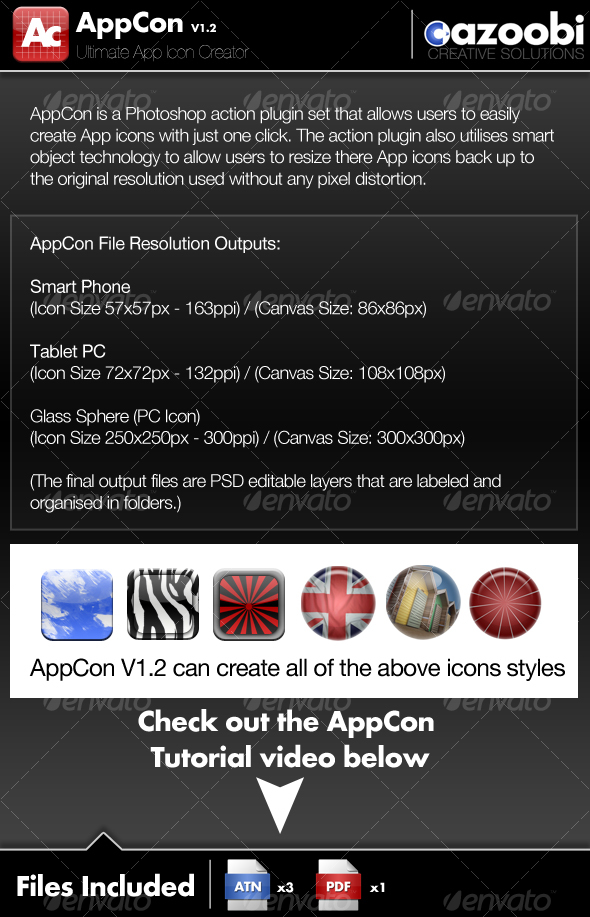 GraphicRiver AppCon App Icon Creator 100581