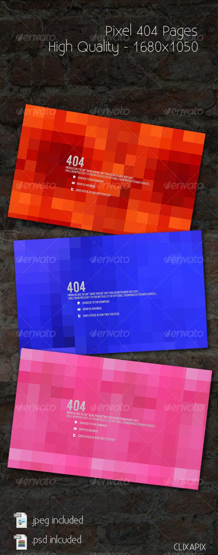 Pixel 404 Pages - Miscellaneous Web Elements
