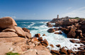rose lighthouse on Pink Granite Coast in France - PhotoDune Item for Sale