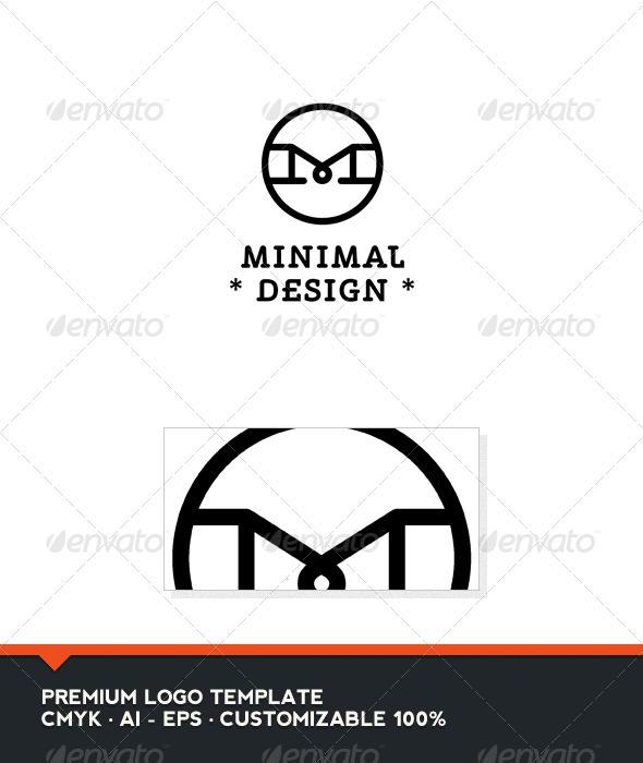 Minimal Design Letter M Logo Template Graphicriver