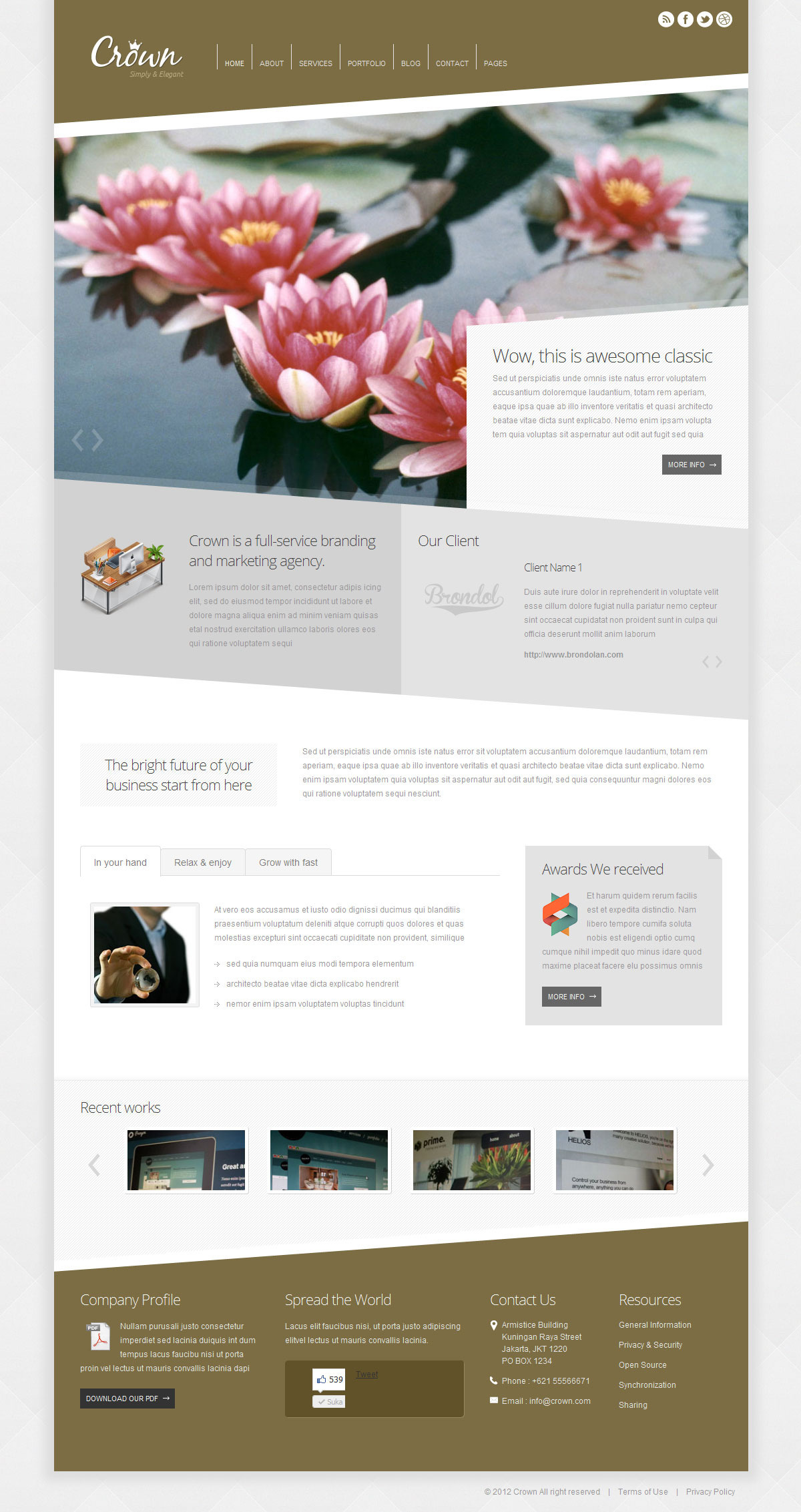 Crown - Modern Minimalist Wordpress Theme