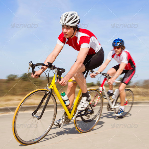 Sprinting cyclists - Stock Photo - Images