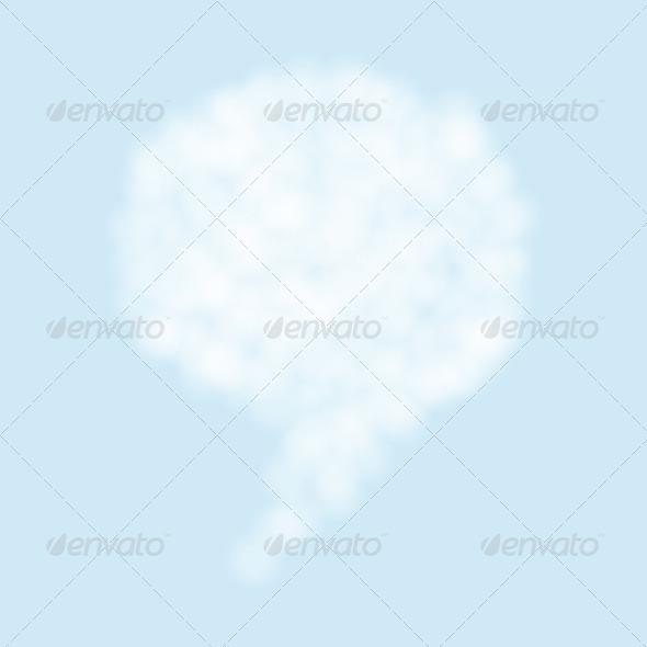 cloud bubble speech - Stock Photo - Images