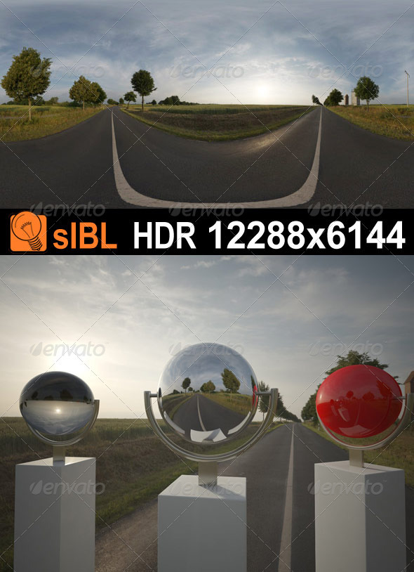 HDR 068 Road Sunrise sIBL - 3DOcean Item for Sale