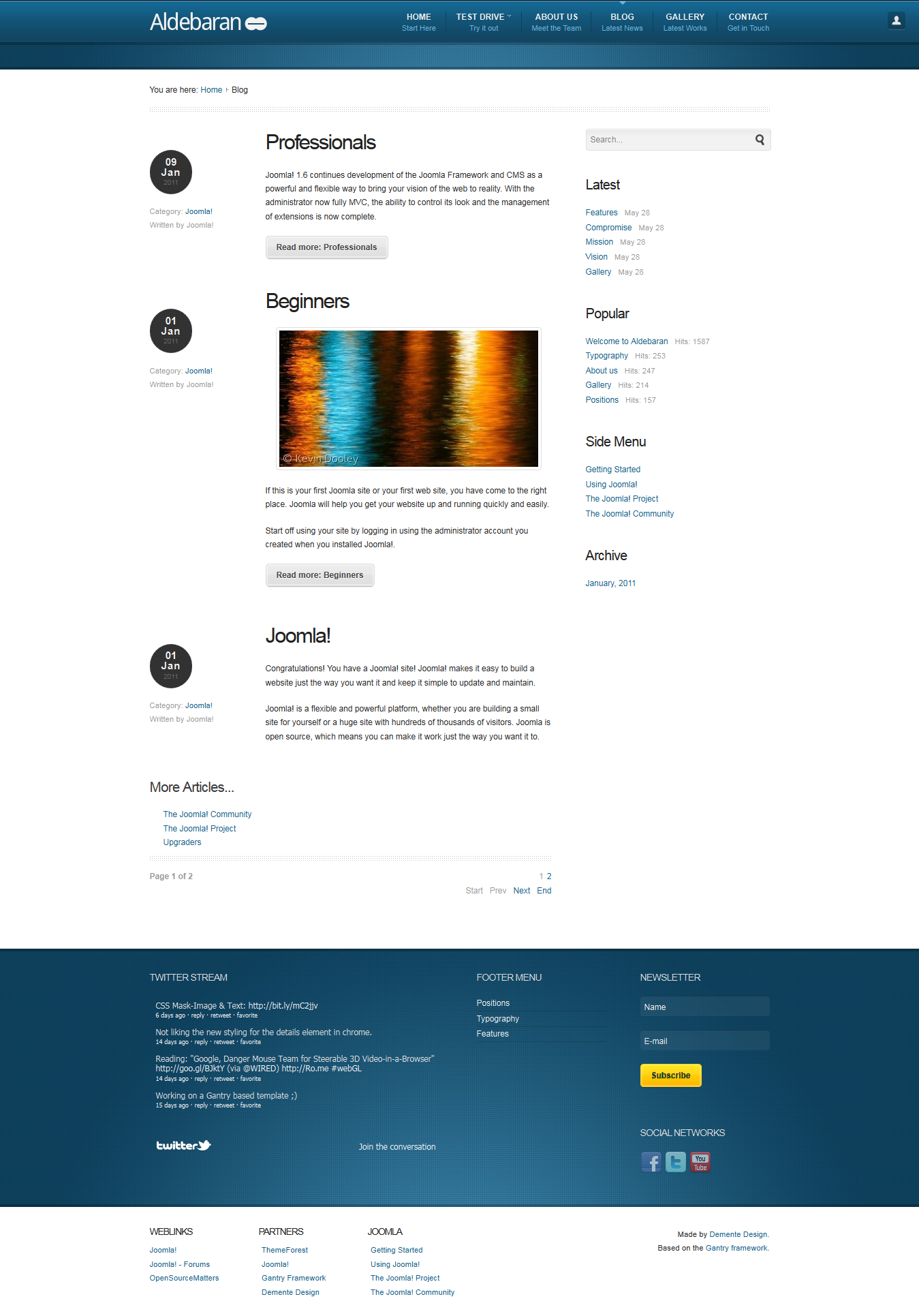 Aldebaran - Joomla 1.6 Business Template