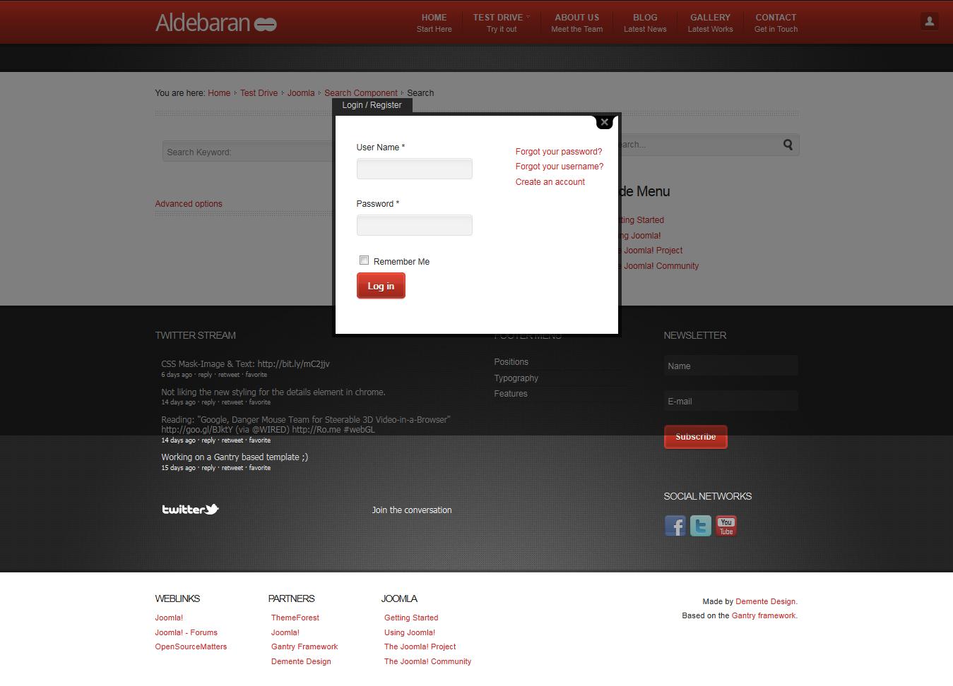 Aldebaran - Joomla 1.6 Business Template