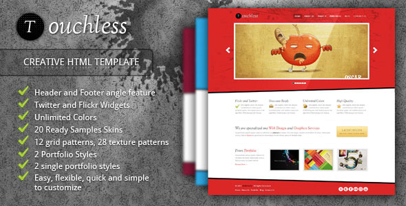 TOUCHLESS Creative HTML Template