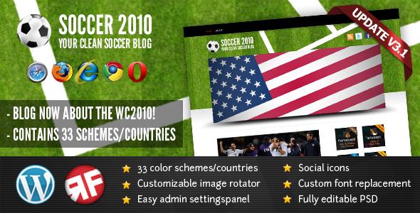 SOCCER2010 wordpress theme download