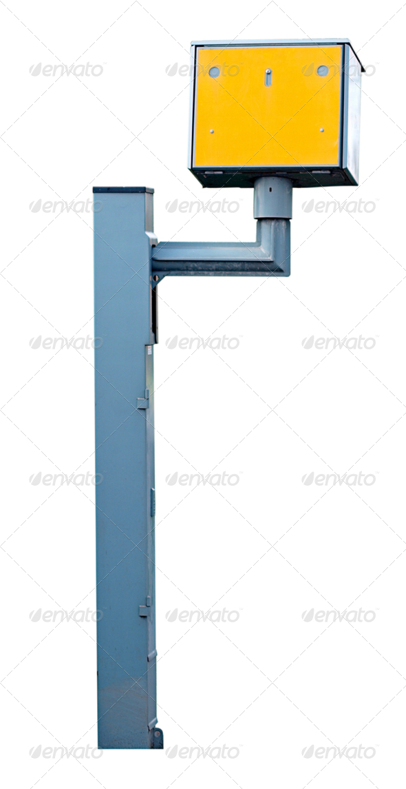 Speed Camera Isolated - Stock Photo - Images