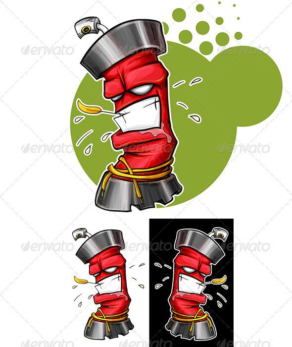 GraphicRiver Graffiti Spray 3227130