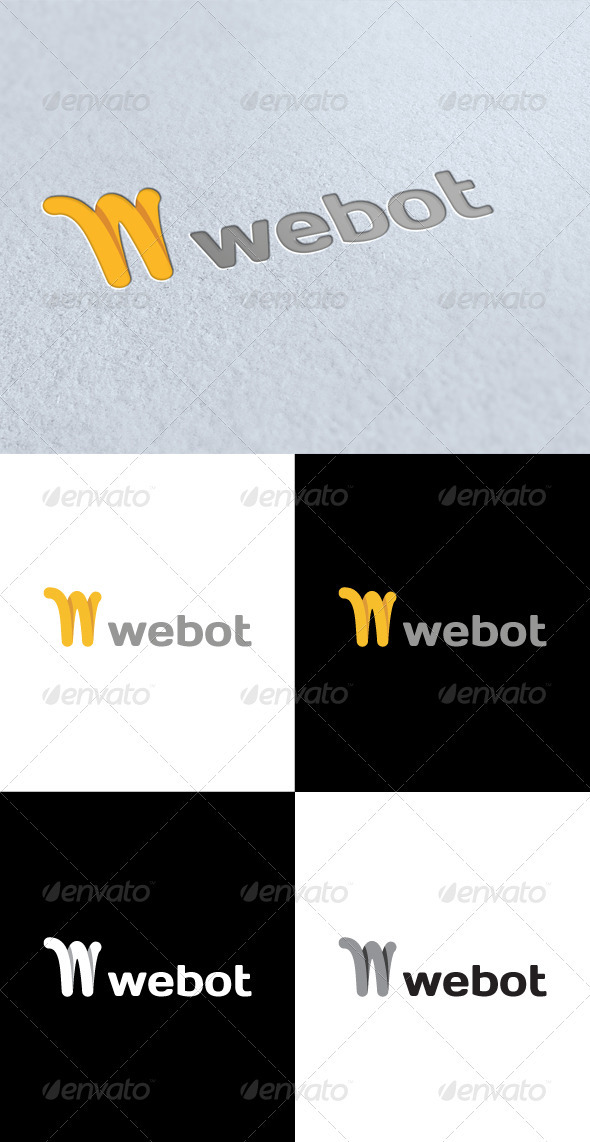 GraphicRiver Webot W Letter Logo 3227361