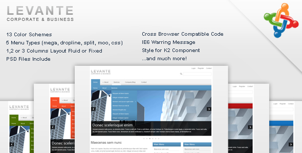 Levante - Corporate and Business Joomla Template