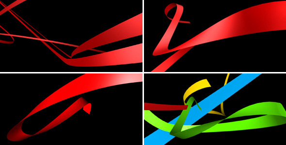 Dynamic 3D Ribbons Pack Of 14