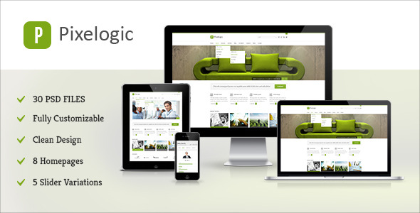 Pixelogic - Multipurpose PSD Template