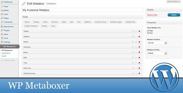 CodeCanyon WP Metaboxer 3160095