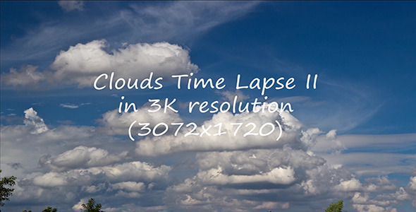 Clouds Time Lapse II 3K