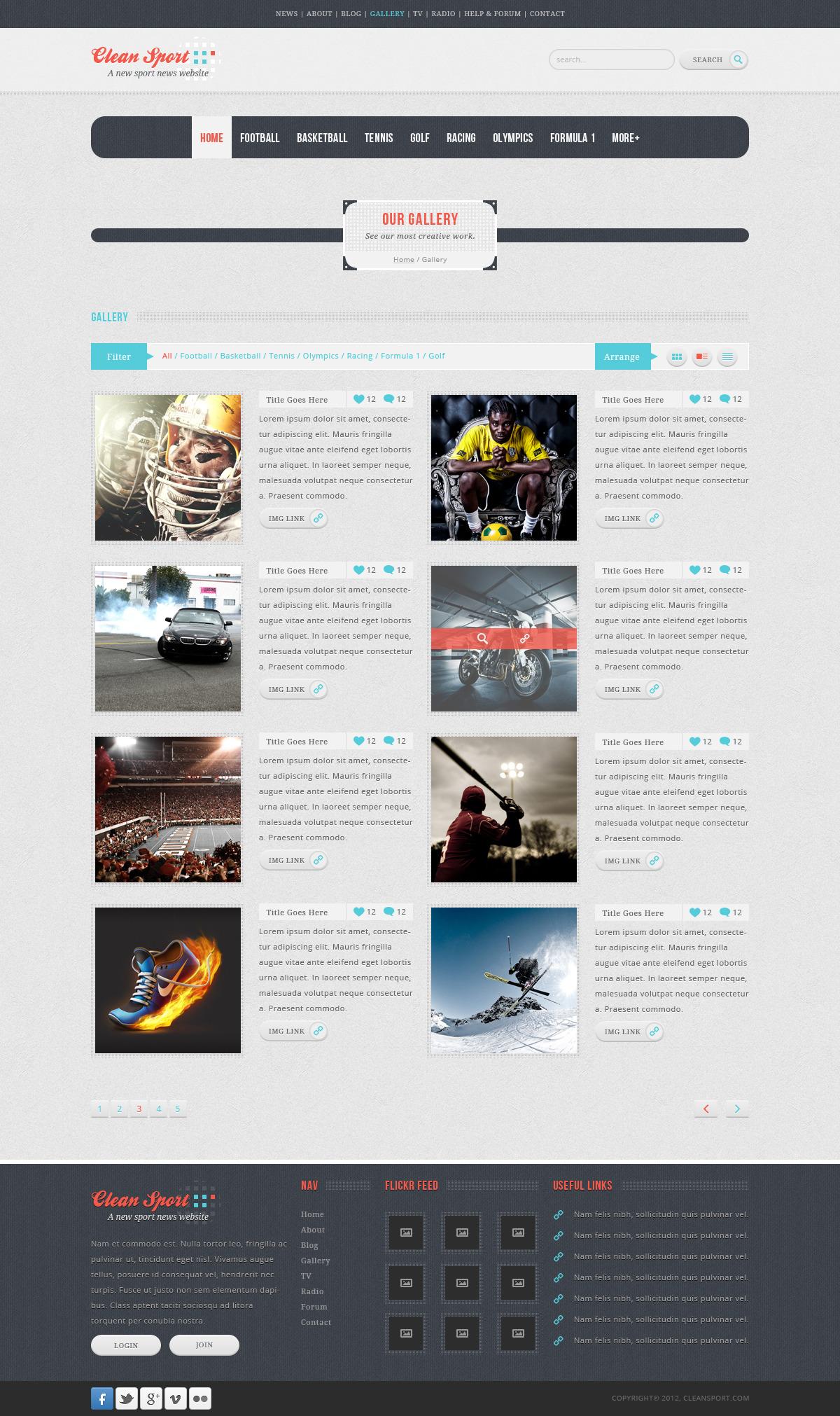 Clean Sport - Sport HTML Template
