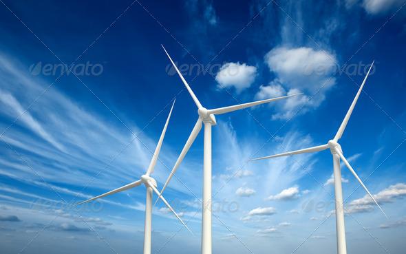 PhotoDune Wind generator turbines in sky 2023333