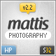Mattis Photography Wordpress Theme - ThemeForest Item for Sale