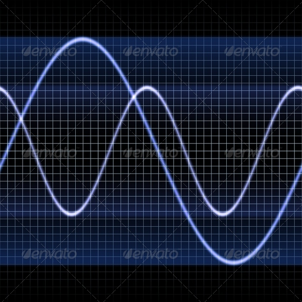 Oscilloscope Sine Waves - Stock Photo - Images