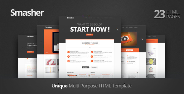 ThemeForest Smasher Multi Purpose HTML Template 2797648