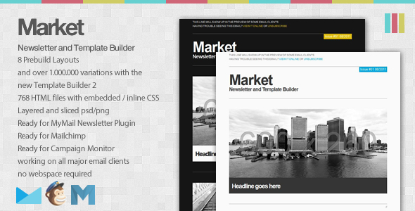 ThemeForest Market Newsletter and Template Builder 474864