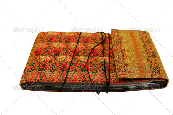 Indian Book With Cloth Cover - Stock Photo - Images