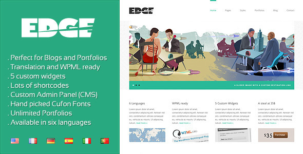ThemeForest Edge Professional Corporate and Portfolio WP 222999