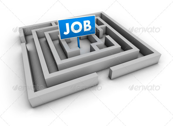 Job Labyrinth - Stock Photo - Images