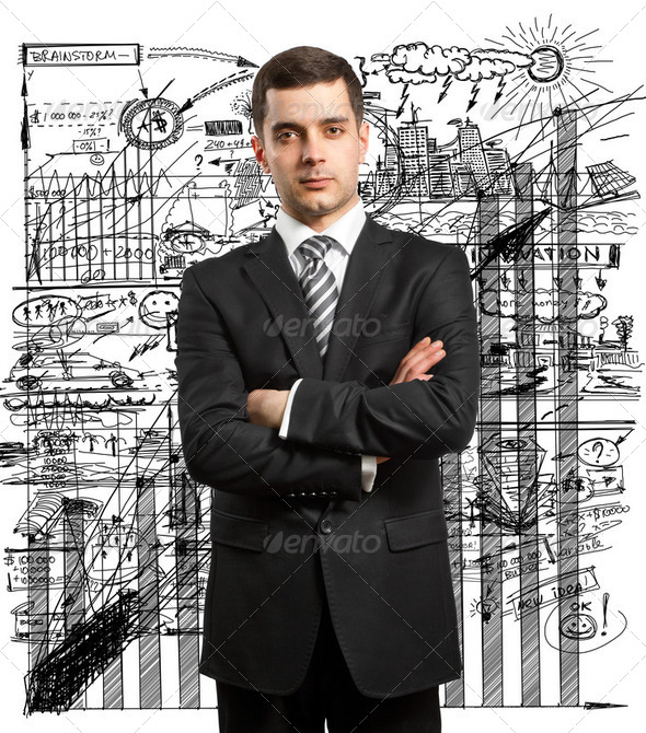 Man Businessman In Suit - Stock Photo - Images