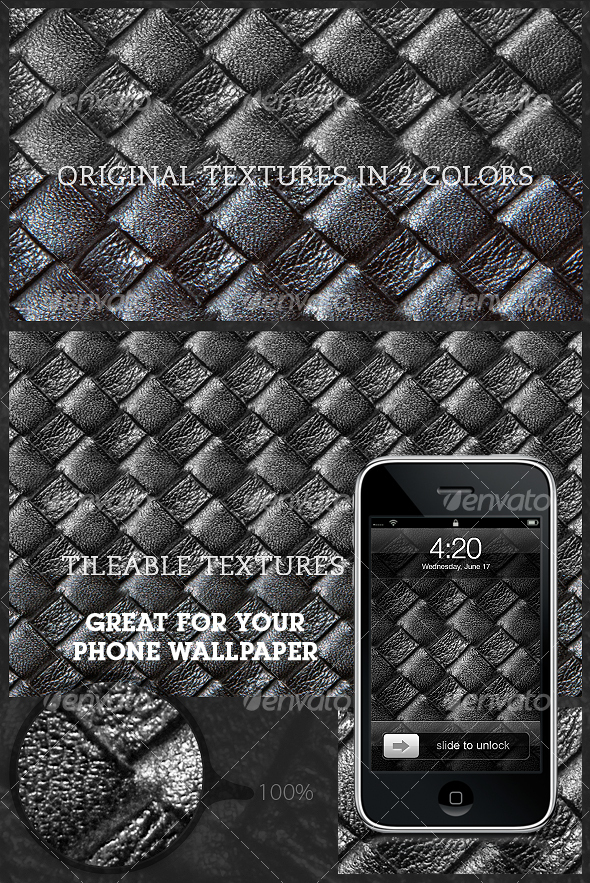 GraphicRiver Tileable Leather Woven Texture 3.0 107902