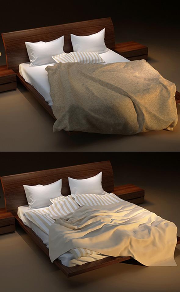 3DOcean Messy Bed 3228860