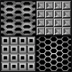 Vector set with metal seamless patterns  - GraphicRiver Item for Sale