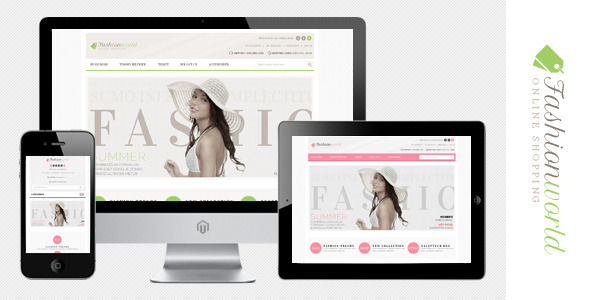ThemeForest Fashion World Responsive Magento Theme 3127661