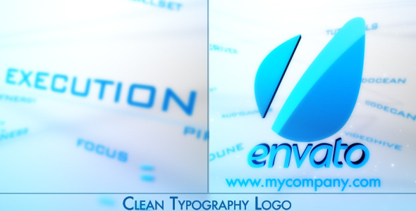 VideoHive Clean Corporate Typography Logo 3229360