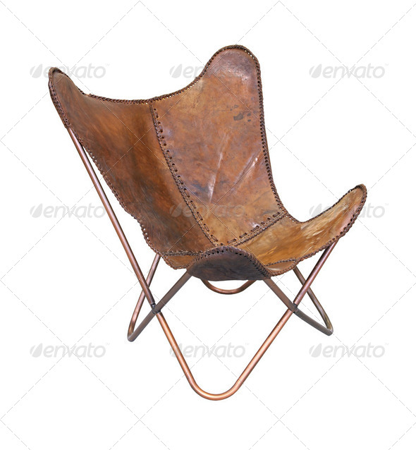 Leather relax chair - Stock Photo - Images
