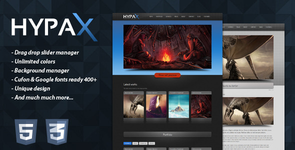 ThemeForest HYPAX Premium Wordpress Theme 397283