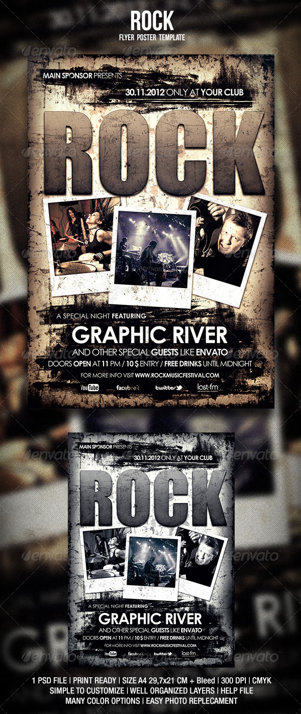 Rock Flyer / Poster 2 - Events Flyers
