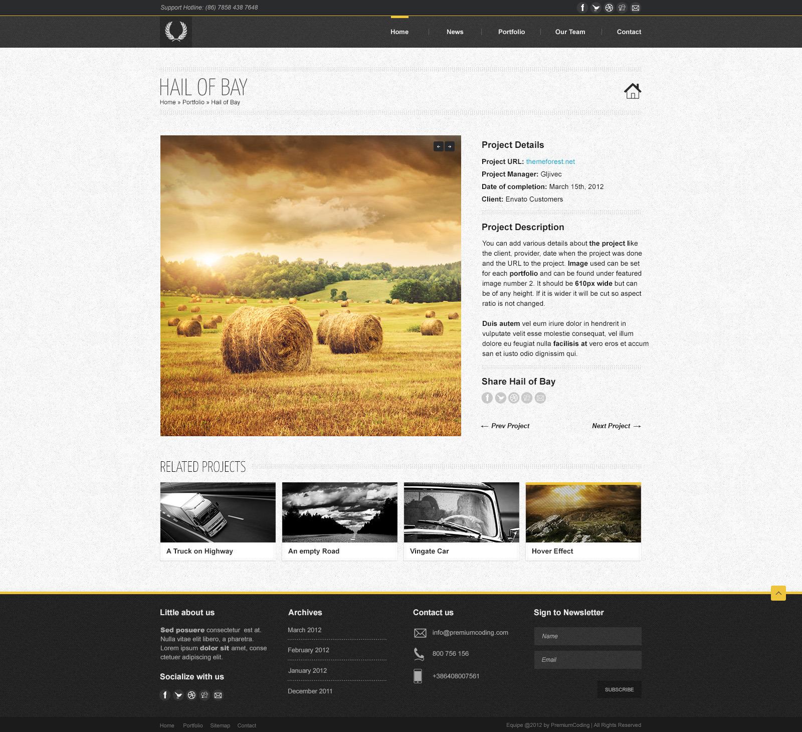 Daedra - Responsive Wordpress Portfolio Theme