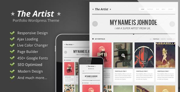 The Artist - Clean Responsive Portfolio Theme - introduction