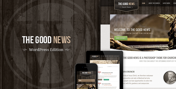 ThemeForest The Good News Responsive WP Theme For Churches 3230060