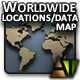 Worldwide Locations/Data Map - ActiveDen Item for Sale