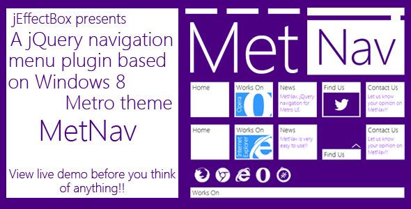 CodeCanyon MetNav- A jQuery navigation menu based on Metro UI 3209194