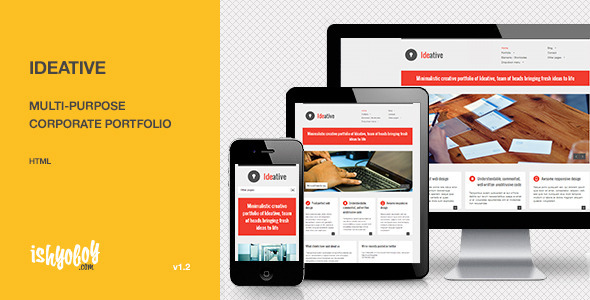 ThemeForest Ideative Multi-purpose corporate portfolio HTML 3195368
