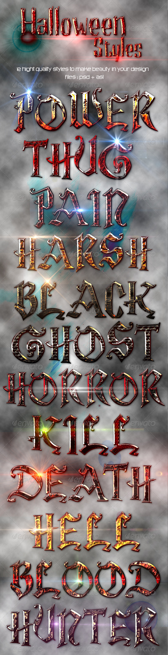 Halloween Styles - Text Effects Styles