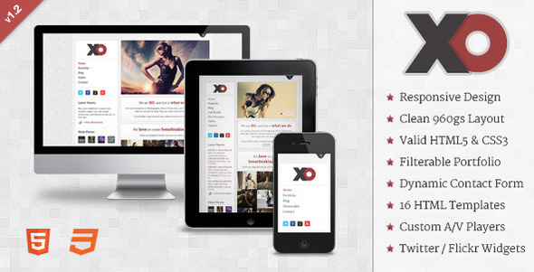 ThemeForest XO Responsive Creative HTML Template 1376255